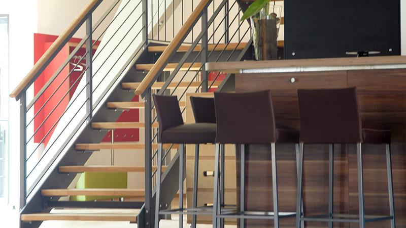 Treppe zu den Obergeschossen