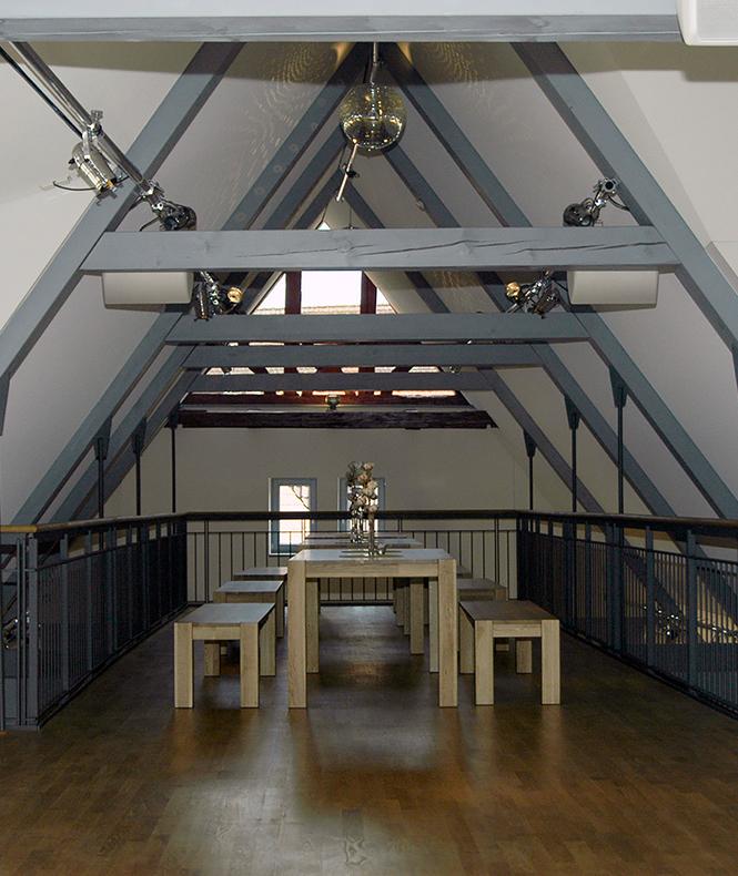 Sitzbereich im Dachgeschoss