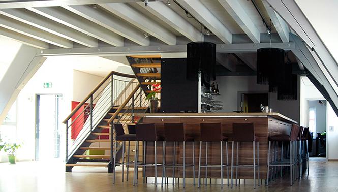 Erdgeschoss mit Bar für die Bäckerei Sehne