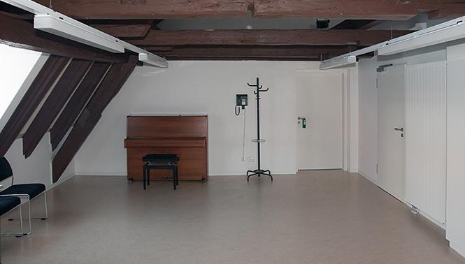 Fotografie des Dachgeschosses der Calwer Musikschule