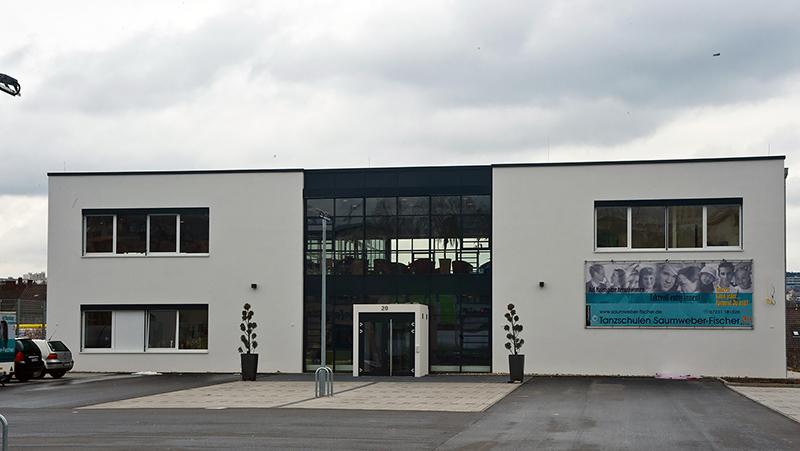 Außenansicht der Tanzschule Saumweber in Pforzheim