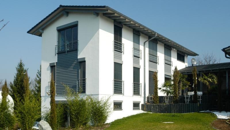 Ansicht des Wohnhauses neben dem Architekturbüro