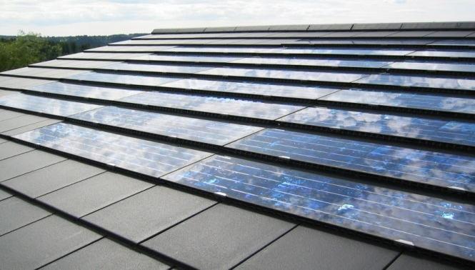 Solaranlage auf dem Dach des Architekturbüros in Calw